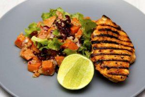 Plat au poulet avec quinoa
